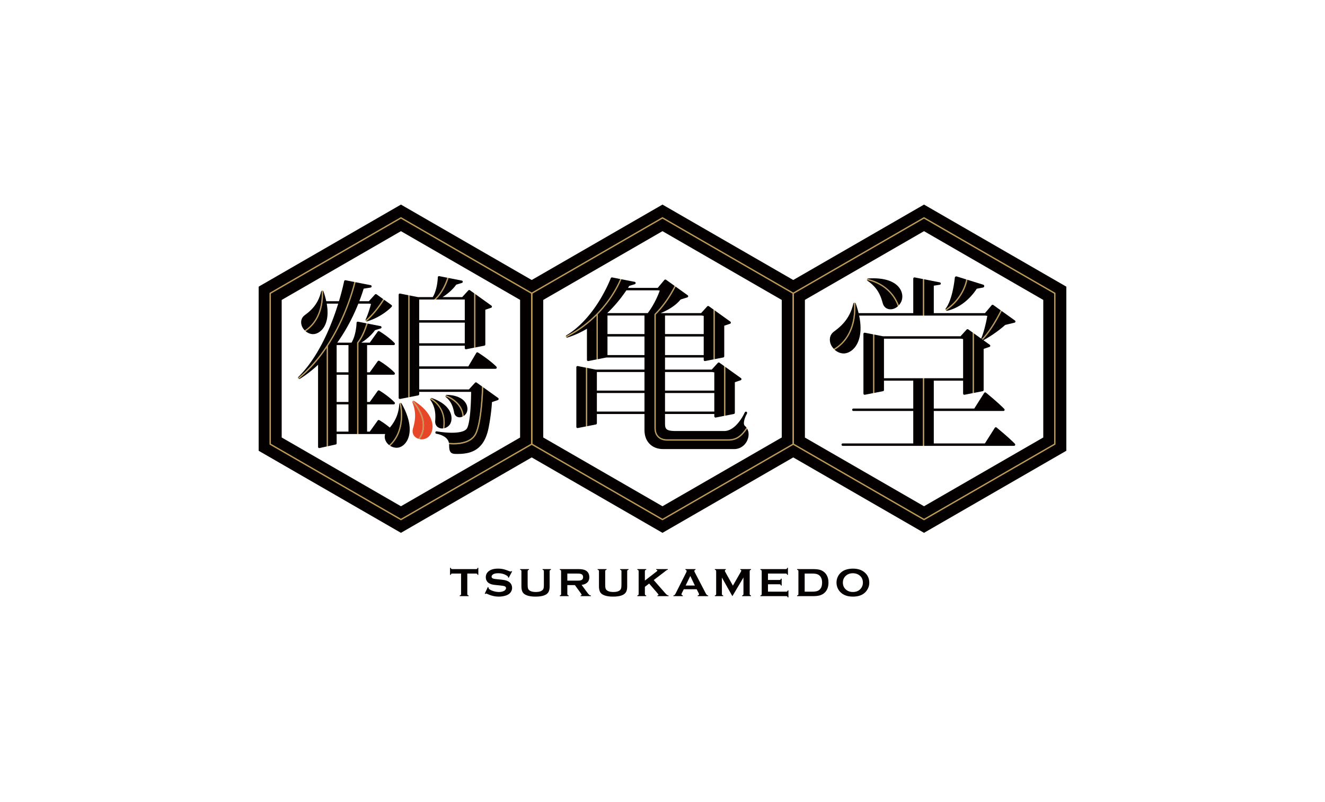 博多ラーメン 鶴亀堂のロゴデザイン